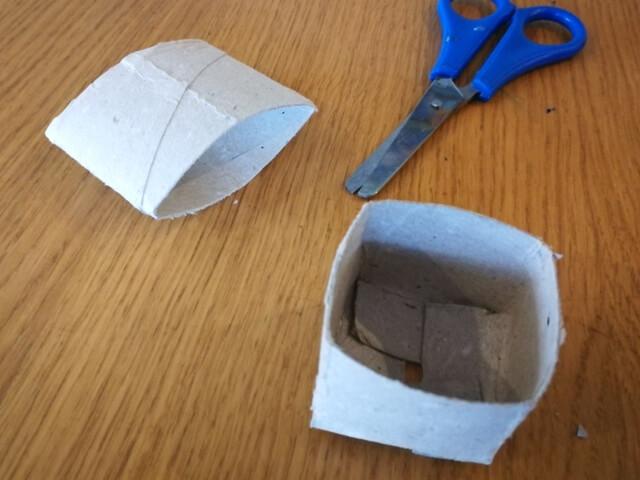 Recipient obținut pentru însămânțare folosind tuburi din carton