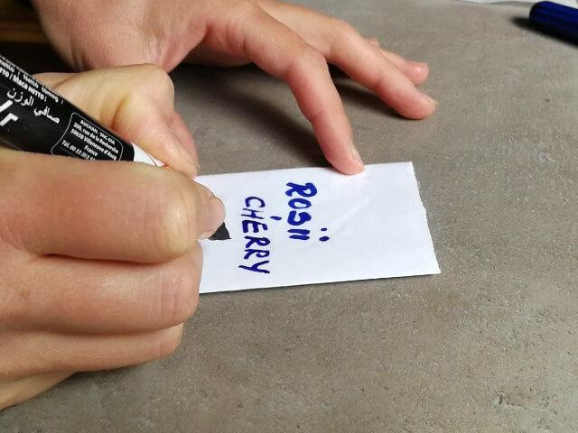Plicul destinat stocării semințelor este etichetat